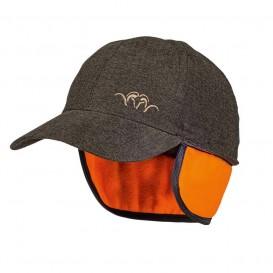 BLASER Vintage Mütze Braun Melange - čiapka