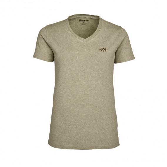 BLASER V-T-Shirt Damen Beige - dámske tričko