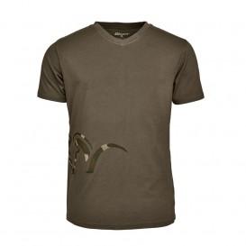 BLASER Logo V-T-Shirt Oliv - tričko