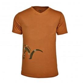BLASER Logo V-T-Shirt Burned Orange - tričko