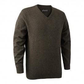 DEERHUNTER Brighton Knit V-neck - poľovnícky sveter