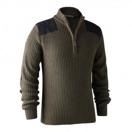 DEERHUNTER Rogaland Knit Zip Neck - pletený sveter