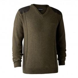 DEERHUNTER Sheffield Knit with V-neck - pletený sveter