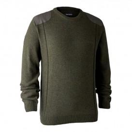 DEERHUNTER Sheffield Knit with O-neck - pletený sveter
