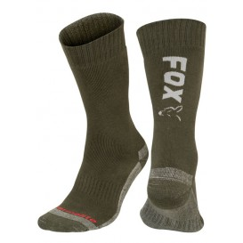 FOX Green/Silver Thermolite Socks - ponožky