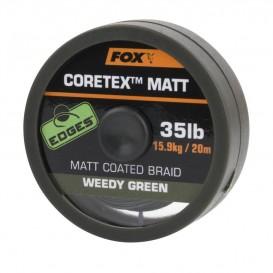 FOX Matt Coretex Weedy Green 25lb - nadväzcová šnúrka