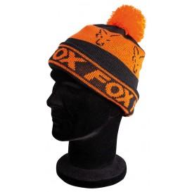 FOX Black/Orange Lined Bobble Hat - čiapka s brmbolcom