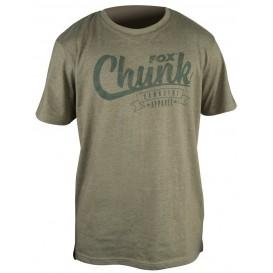 FOX Chunk Stonewash Olive T-Shirt - tričko