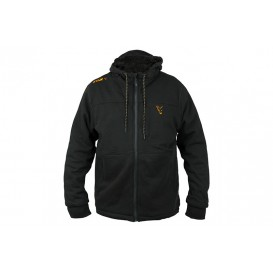FOX Collection Black/Orange Sherpa Hoodie - zateplená mikina