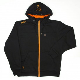 FOX Black/Orange Heavy Lined Hoodie - mikina