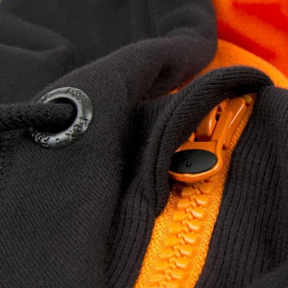 FOX Black/Orange Heavy Lined Hoodie - mikina