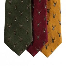 DEERHUNTER Tie w. Stag Red - poľovnícka kravata