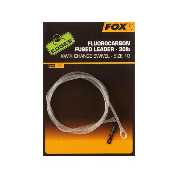 FOX EDGES Fluorocarbon Fused Leader Size 10 - hotová montáž