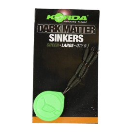 KORDA Sinkers Large Weedy Green - tungstenové gumičky