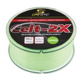 CARP SPIRIT Celt 2X Mymetik Green 0,285mm - kaprový monofil