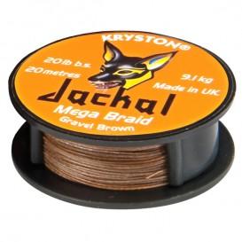 KRYSTON Jackal Gravel Brown 30lb - nadväzcová šnúrka