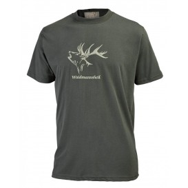 HUBERTUS pánske tričko Waidmannsheil, farba olivová