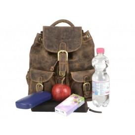 GREENBURRY 1711S - kožený ruksak malý