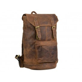 GREENBURRY 1689 - kožený ruksak s prackami