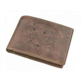 GREENBURRY 1705 Pes - kožená peňaženka hnedá