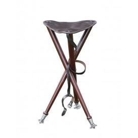 PARFORCE Tripod skladacia stolička s kožou